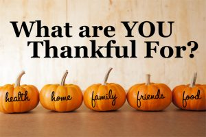 Thanksgiving Contest – What Are You Thankful For?