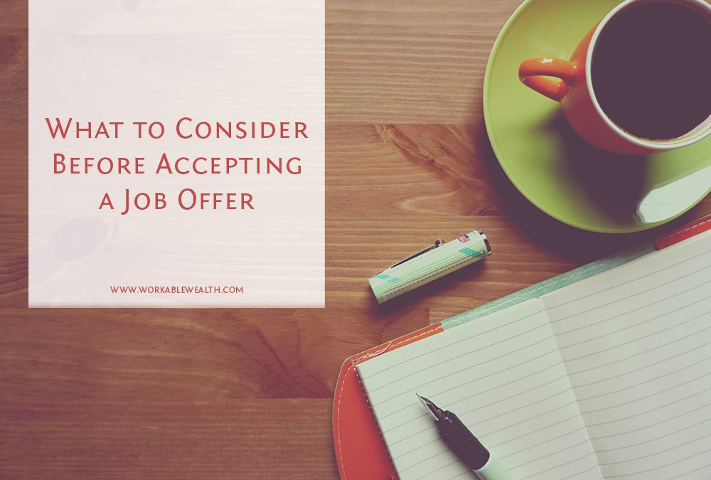 What to Consider Before Accepting a Job Offer